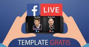 Template gratis per dirette Facebook con emoticon