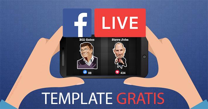 Template gratis dirette su Facebook