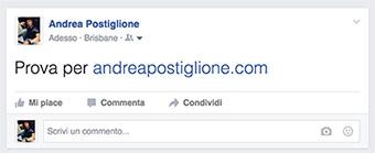 Testo grande su Facebook