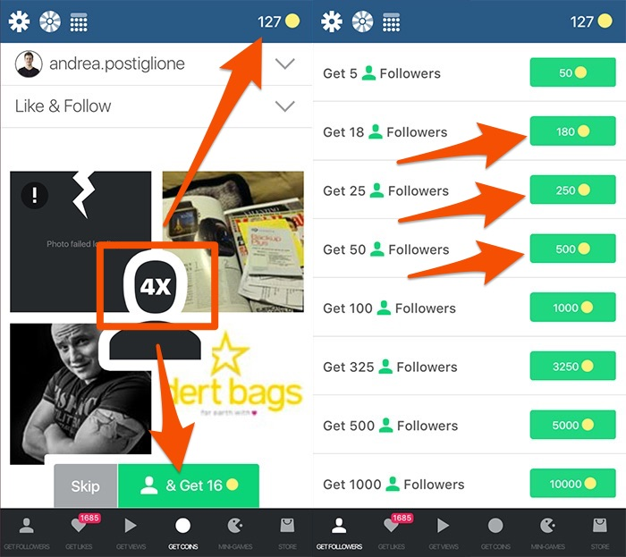 Come funzionano le app follower Instagram