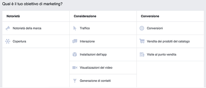 Obiettivo di marketing su Instagram ads