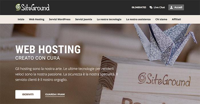 Siteground per WordPress