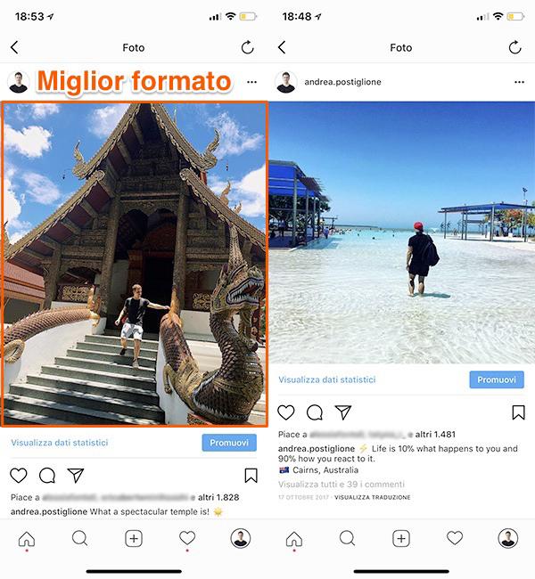 Miglior formato per Instagram