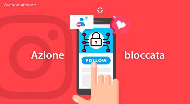 Azione bloccata su Instagram