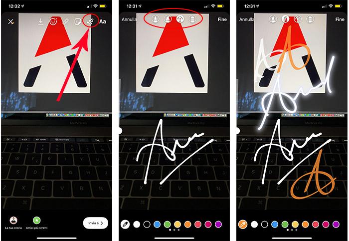 Disegno a mano per le Storie Instagram