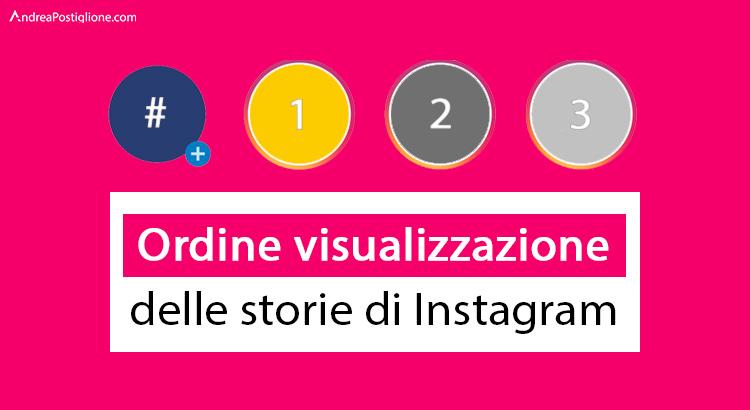 Ordine di visualizzazione di Storie su Instagram