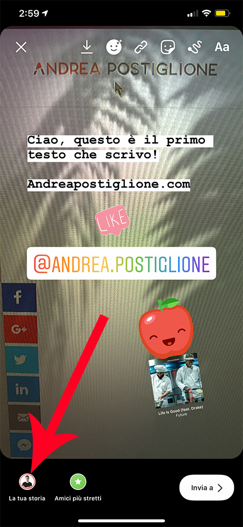 Pubblicare Storie su Instagram