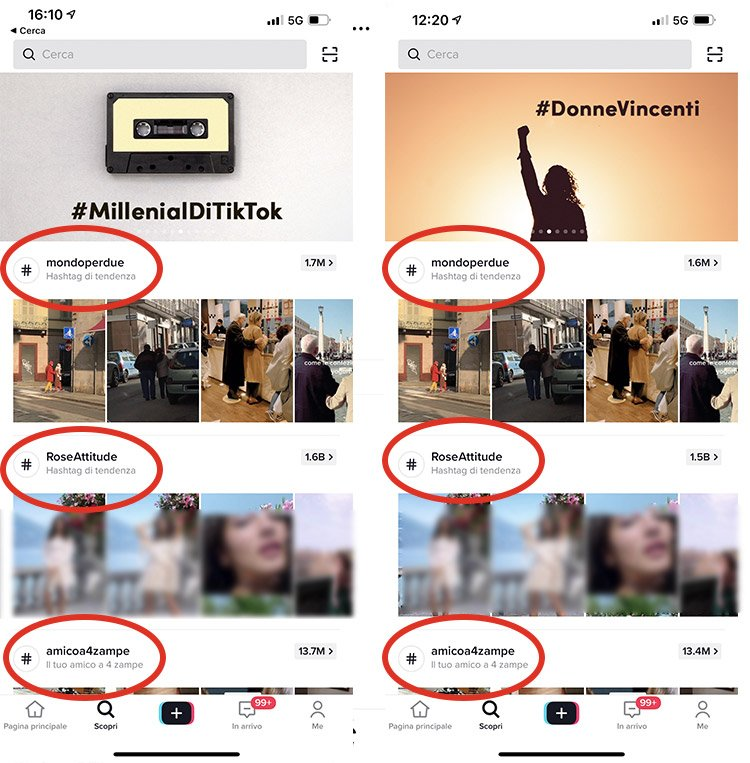 Hashtag di Tendenza su TikTok