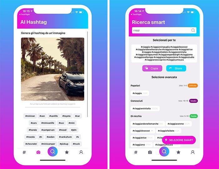 Hashy app per iOS